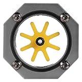 V BESTLIFE Medidor de Agua, Enfriador de PC Indicador de Agua de enfriamiento de Agua G1/4 Enfriador de aleación de Aluminio para PC Sistema de enfriamiento de Agua(灰色)