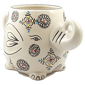 Hand-Painted Elephant Coffee Tea Mug Cups