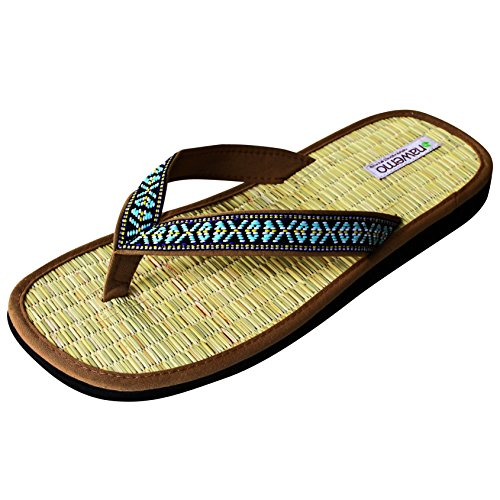 Zimt-Slipper Nawemo ''Wild West'', Beige, 42/43 EU
