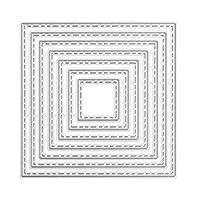 Qitiner DIYスクラップブッキングカードダイカット用のサークルフレーム金属切削ダイ(AB0045)