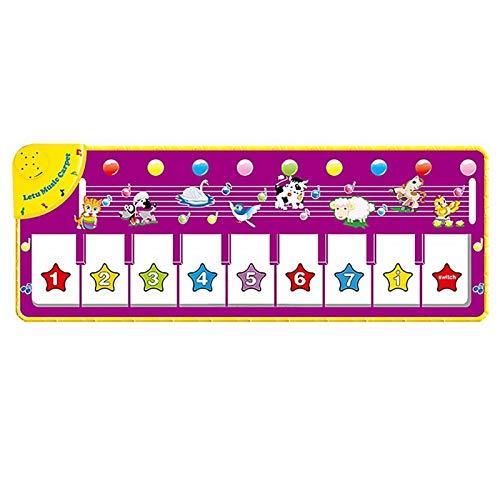 Zzlush Educational Spielzeug Kinder Lernen Kinder Spaß Musik Klavierdecke Baby Tanzmatte Teppich Piano Spiel Pad mit Tierstimme Frühe pädagogische Instrumente Spielzeug (Color : Multicolor)