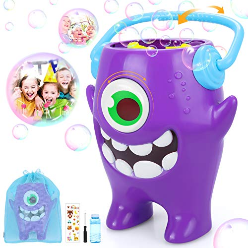 Peradix Bubble Machine, Monster Bubble Blower for Kids Toddler Outdoor Indoor Parties, Automatic Bubble Maker with 7FL.OZ Bubble Liquid, Battery Operated(NOT Included), Birthday Gift
