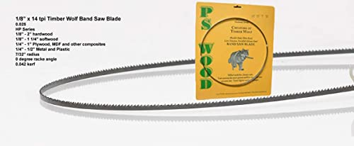 popular PS Wood Timber online 2021 Wolf 115 x 1/8 x 14 tpi band saw blade online sale