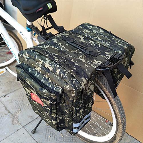 Hearthrousy Alforjas para Bicicleta Bolsa de Bicicleta Bicicleta Pannier Bolsa Impermeable de Tija Asiento Trasera para Bici Montaña Cycling Ciclismo Viaje