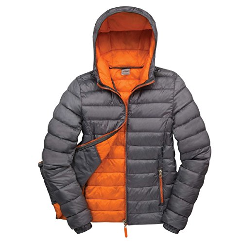 Result Urban Snowbird Damen Steppjacke mit Kapuze (M) (Grau/Orange)