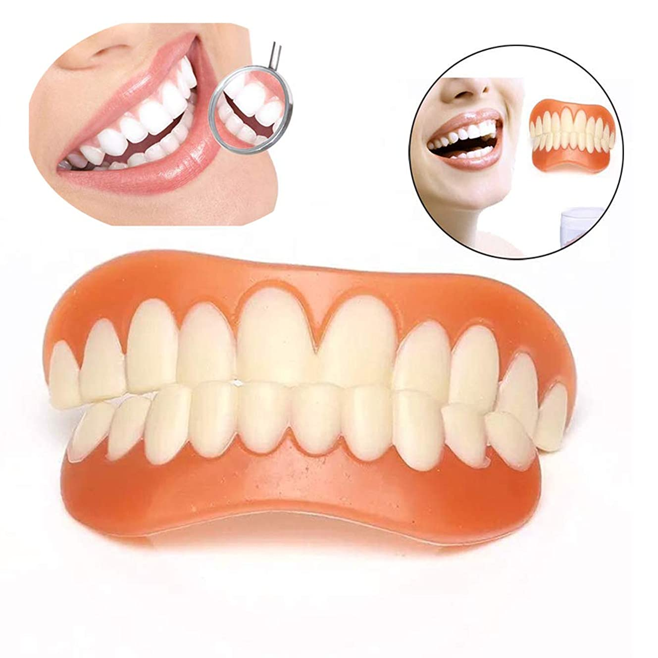 こどもの日小競り合い十分です歯科用パーソナルケア歯の上下を瞬時に微笑ませるシリコンブレースを白くするすべての義歯ケアツールに適しています,20pairs