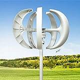 600 W, 12 V, lanterna bianca, impianto eolico verticale, 5 fogli, con controller in fibra di nylon bianca
