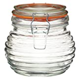 KitchenCraft Home Made Honey Jar with Airtight Silicone Seal, Glass, 650 ml