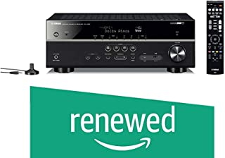 (Renewed) Yamaha 115W RX-V 585 7.2 AV Receiver with Dolby Atoms, DTS-X, Bluetooth, Wi-Fi, AirPlay, 4K Ultra, MusicCast Surround (Black, RXV585)