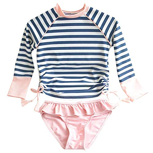 Kids Swimsuits Girl's Two-Piece Long Sleeve, Picture Shows, Size Size 100: 2-3T