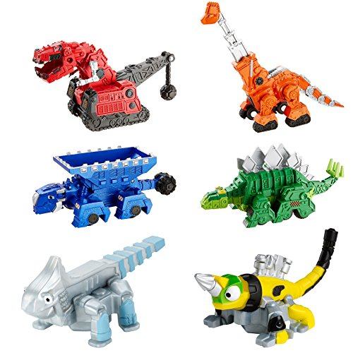 Dinotrux Die-cast Characters and Reptools Featuring Rolling Wheels Bundle