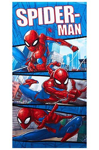 Toalla de playa Marvel Spider-Man toalla para niños diseños diferentes 70 x 140 cm, 100% algodón (Spider-Man Moon)