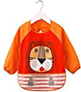 Waterproof Bib with Sleeves&Pocket, Unisex Kids Childs Arts Craft Painting Apron 6-36 Months