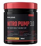 Body Attack Nitro Pump 3.0 (ohne Koffein) - Pre Workout Pump Booster, extrem hochdosiert, für alle Sportler & Athleten, sehr lecker und sofort löslich, Made in Germany, Peach Passion, 400g -
