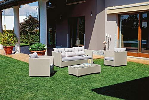 Grupo Maruccia Salón para Exteriores de Aluminio Revestido en textileno ciqnue plazas sofá jardín salón para Hotel