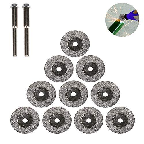 Diamond Cutting Wheel, Gaocunh 12 Pcs Diamanttrennscheiben Mini-Kreissägeblatt für Dremel-Rotationswerkzeuge