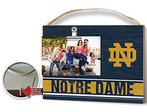 KH Sports Fan Clip It Colored Logo Photo Frame Notre Dame Fighting Irish
