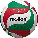 Molten V5M4000-DE - Balón de fútbol, Color Blanco, Verde y Rojo