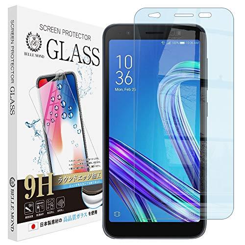 ASUS ZenFone Live L1 / ZA550KL ガラスフィルム ブルーライトカット 強化ガラス 保護フィルム ブルーライト 硬度9H 指紋防止 【BELLEMOND】 ZenFone Live L1 ZA550KL GBL 290