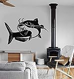 Tianpengyuanshuai Vinilo para Pared Club de Pesca Pescador afición calcomanía Papel Tapiz de Interior 85X52cm