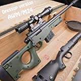 NGS AWM Water Bullets Sniper Rifle PUBG M24 Sniping Water Gun Combined Version Children's Toy Safety Paintball Gun Xmas Gift?Water Drop Bullet 10000pcs?