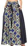 Sakkas 65 - Anisa African Wax Print Ankara Pantalones Anchos holandeses con Cintura elástica - 14-BlueGreenMulti - OS