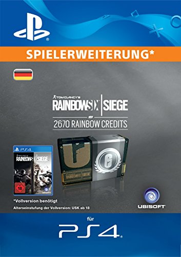 Tom Clancy's Rainbow Six Siege Currency pack 2670 Rainbow credits [PS4 Download Code - deutsches Konto]