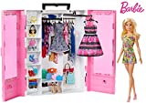 *Barbie *Fashionista Armari portable amb nina inclosa, roba, complements i accessoris de nines, regal per a nenes i nens 3-9 anys (Mattel GBK12)