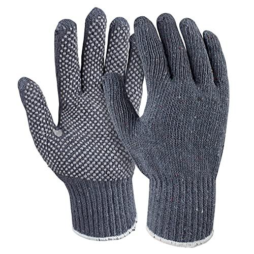 WorkLife HandschuhMan. 3 Paar Grobstrick Arbeitshandschuhe mit Noppen für optimalen Griff Gr. 8,10 und 12 (10/XL)