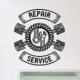 yaonuli Servicio de reparación de automóviles Etiqueta de la Pared Taller de reparación de automóviles Servicio de neumáticos para automóviles Etiqueta de la Pared extraíble 114X64cm