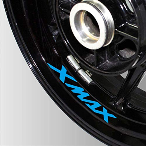 Neumático de la Motocicleta Etiqueta Reflectante Reflectante Rueda de Rueda Logo Logo DE Logo Moto Accesorios Decorativos para Yamaha Xmax 300 125 250 300 (Color : 02)