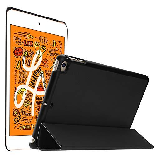 IVSO Custodia Cover per iPad Mini 5/iPad Mini 2019, Slim Smart Protettiva Custodia Cover in pelle PU con Auto Wake/Sleep Function per Apple iPad Mini 5 2019/iPad mini 4, Nero