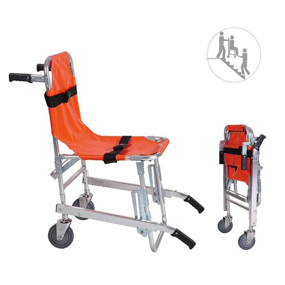 LMJ-RANR Transferencia de la Escalera de evacuación de Emergencia de Ruedas de Aluminio Ligero Médico de elevación Silla para los Ancianos, con Hebilla de liberación rápida: Amazon.es: Hogar