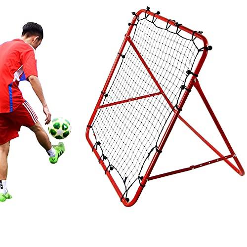 Red de destino de fútbol, Rebound Net de béisbol, hockey al aire libre, entrenamiento de práctica, portátil, equipo de ayuda de silbato de acero, para niños y adultos, color rojo