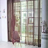 NXKang Window Drapes, 1 Pcs Pure Color Tulle Door Window Curtain Drape Panel Sheer Scarf Valances,Home Decorative for Living, Dining, Bedroom 200cm x 100cm
