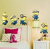 Etiqueta de la pared-Minions Vinilos Decorativos Vinilo decorativo para habitación...