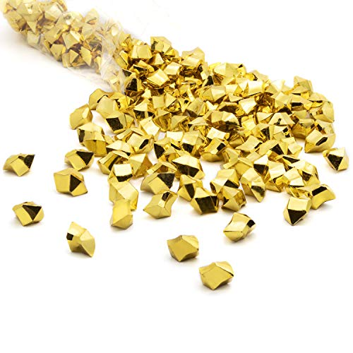 Royal Imports Acrylic Gems Ice Crystal Rocks for Vase Fillers, Party Table Scatter, Wedding, Photography, Party Decoration, Crafts, 3 LBS (Approx 580-600 gems) - Gold