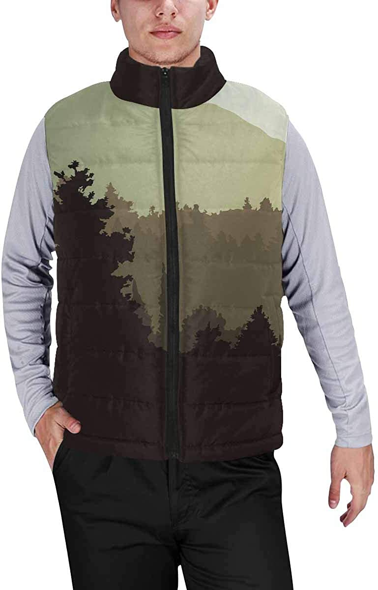 InterestPrint Men's Soft Stand Collar Jacket for Fishing Hiking Cycling Jungle Snakes and Tropical Leaves