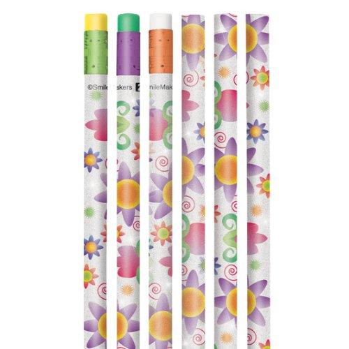 Sparkle Flower Pencils - 50 per pack