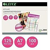 Leitz 33805 100, 1pieza(s) - Plastificador (Transparente, Brillante, A7, 0,125 mm, 116 mm, 86 mm)