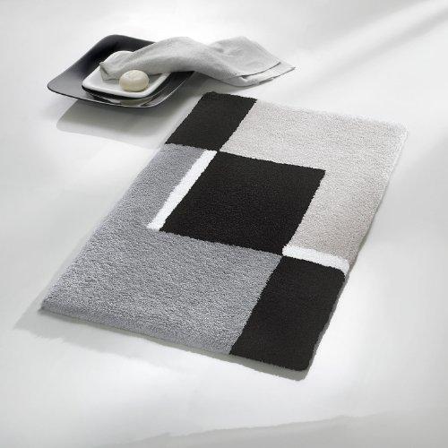 Kleine Wolke 4598977225Dakota Badteppich Polyacryl Platinum, Platin, 60 x 90 cm