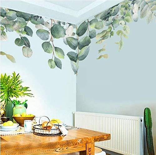 Green Leaf Botanical Garden Nursery PVC Wall Sticker Living Room Bedroom Decoration Wall Decoration Art Mural