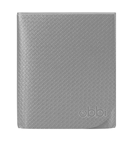 Ubbi Changing Mat, Soft and Comfortable, Easy to Clean and Carry on the go, Yoga-Mat Feel, Gray