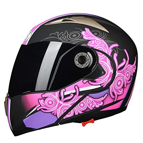 Casco moto modulare da donna casco integrale da corsa per casco da moto con doppia visiera antivandalo Caschi moto antiappannamento