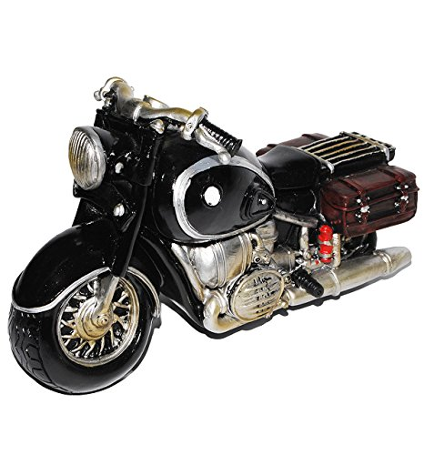 alles-meine.de GmbH Spardose Motorrad / Oldtimer - schwarz - stabile Sparbüchse aus Kunstharz - Bike / Biker / Fahrzeug Old Style - Fahrschule - Geld Sparschwein / Fahrzeuge - lu..