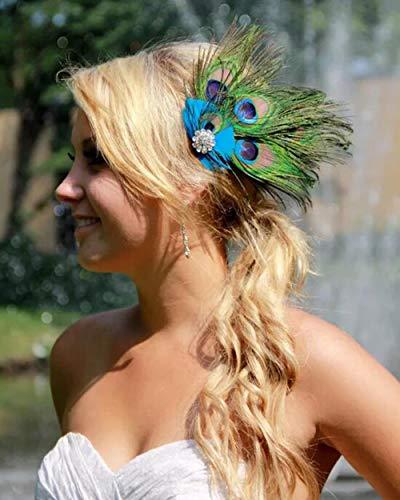 Simsly Diadema de plumas para el tocado indio, diadema bohemia, para mujeres...