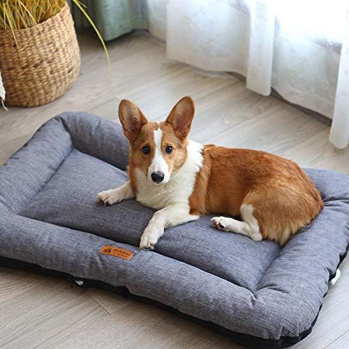 ZHITEN Colchón para mascotas cama para gatos y perros, cama suave para perro, colchón, funda lavable, parte inferior antideslizante para interior y exterior, grande, mediano y pequeño perro y gatos
