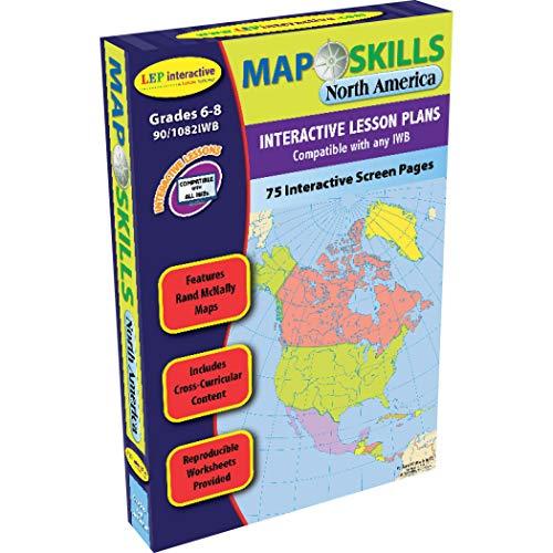 Lorenz Educational Press LEP901082IWB-A1 Kaart Vaardigheden Noord-Amerika Interactieve Whiteboard Software
