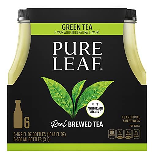 Pure Leaf Green Iced Tea 16.9oz Bottles (Pack of 6), 101.4 Fl Oz.