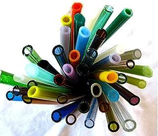 Devardi Glass Handmade Soft Glass Tubing, COE 104, Mixed Colors, 10 Tubes